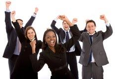 Commercieel teamhoogtepunt van succes Stock Foto's