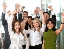 Commercieel teamsucces Stock Fotografie