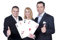 Commercieel threesome Team Royalty-vrije Stock Afbeeldingen