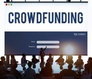 Commercieel van het Crowdfundingsgeld Ondernemings Grafisch Concept royalty-vrije stock afbeelding