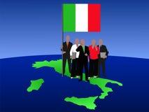 Commercieel van Italië team stock illustratie