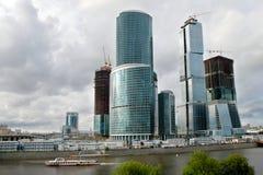 Commercieel van Moskou Centrum in aanbouw Stock Afbeeldingen