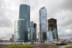 Commercieel van Moskou Centrum in aanbouw Stock Afbeelding