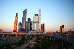 Commercieel van Moskou Internationaal Centrum Stock Foto's