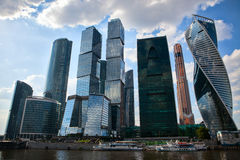 Commercieel van Moskou Internationaal Centrum Stock Afbeeldingen