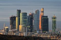 Commercieel van Moskou Internationaal Centrum - Moskou-Stad stock foto