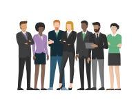 Commercieel van Multiethnic team vector illustratie