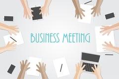 Commercieel vergaderings vlak concept met hoogste mening van verschillende zaken Stock Afbeeldingen