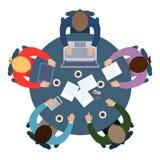 Commercieel vergaderingsteken Stock Foto