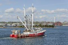 Commercieel vissersvaartuig Kapitein Jeff in New Bedford royalty-vrije stock afbeeldingen