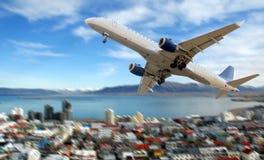 Commercieel vliegtuig stock afbeelding