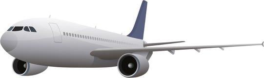 Commercieel vliegtuig royalty-vrije illustratie