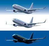 Commercieel vliegtuig vector illustratie