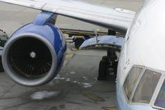 Commercieel vliegtuig Royalty-vrije Stock Foto's
