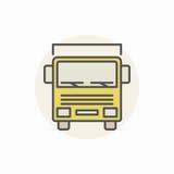 Commercieel vrachtwagen kleurrijk pictogram royalty-vrije illustratie