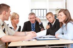 Commerciële groep op de vergadering Stock Fotografie