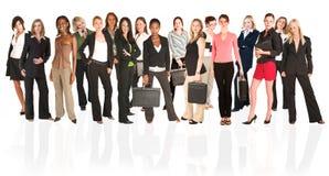 Commerciële groep vrouw Stock Fotografie