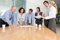Commerciële groepsvergadering Stock Afbeelding