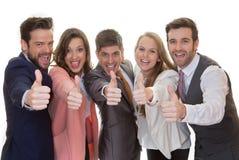 Commerciële teamgroep met omhoog duimen Royalty-vrije Stock Foto