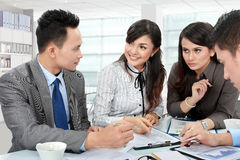 Commerciële teamvergadering Royalty-vrije Stock Foto
