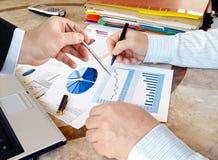 Commerciële vergadering. Stock Foto