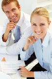 Commerciële vergadering in een bureau Royalty-vrije Stock Fotografie