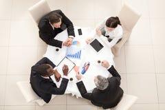 Commerciële vergadering in restaurant Royalty-vrije Stock Foto's