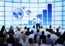 Commerciële Vergadering Team Information Analysis Concept Stock Foto