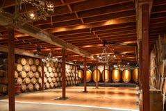 Commerciële wijnkelder Stock Foto