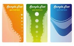 Commercio cards2 di colore Immagine Stock