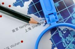 Commercio in Cina orientale Immagini Stock