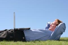 Commercio completamente Relaxed Fotografia Stock Libera da Diritti