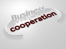 Commercio - cooperazione - lettere Fotografia Stock Libera da Diritti