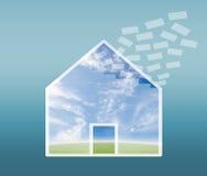 Commercio del bene immobile illustrazione di stock