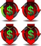 Commercio del bottone Fotografia Stock Libera da Diritti