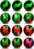 Commercio del bottone Fotografie Stock