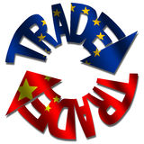 Commercio del cinese dell'Ue Immagine Stock