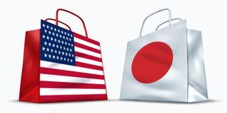 Commercio del Giappone e dell'America illustrazione vettoriale