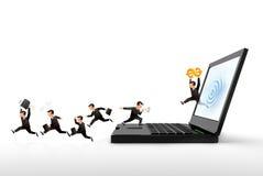 Commercio del Internet Immagini Stock