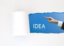 Commercio del Libro Bianco di concetto che indica parola di idea Fotografie Stock