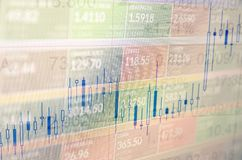 Commercio del mercato azionario Fotografie Stock Libere da Diritti