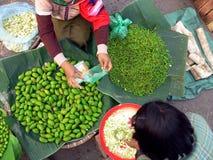 Commercio del mercato della Birmania Fotografia Stock