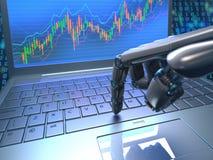Commercio del robot del mercato azionario Immagini Stock Libere da Diritti