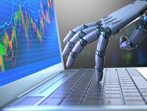 Commercio del robot del mercato azionario Immagine Stock