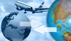 Commercio di aeronautica Immagini Stock