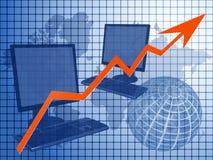Commercio di calcolatore illustrazione di stock