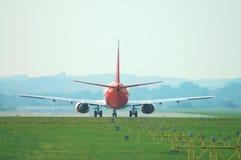 Commercio di corsa dello sbarco del jet Fotografia Stock Libera da Diritti