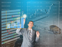 Commercio di finanze Immagine Stock