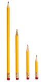 Commercio di formazione rotto usato della matita Immagini Stock