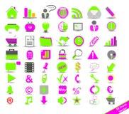 Commercio di modo delle icone Fotografia Stock Libera da Diritti